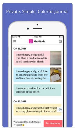 gratefull app: you can work on your negative thoughts. 1