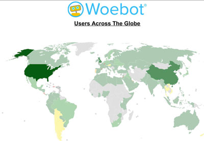 Woebot Users Across The Globe