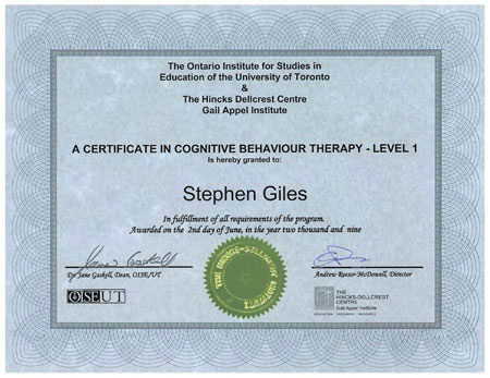 how to become a cbt therapist or counselor