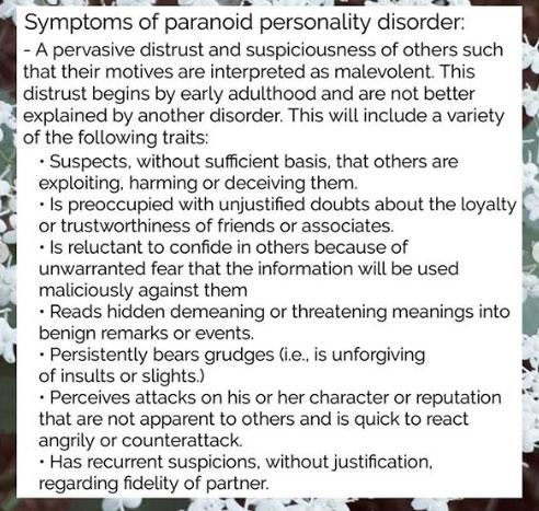 paranoid personality disorder 3