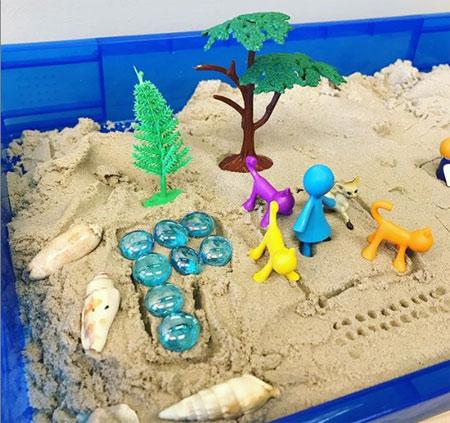 sand tray therapy and mandala application 3